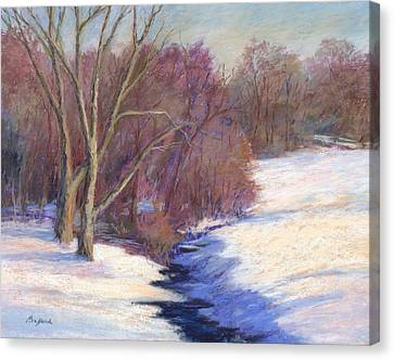 Icy Stream Canvas Print