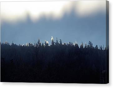Icy Sunrise Canvas Print