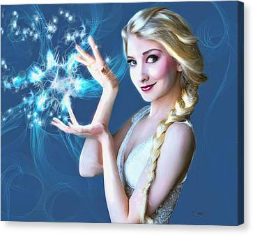 Icy Touch Canvas Print