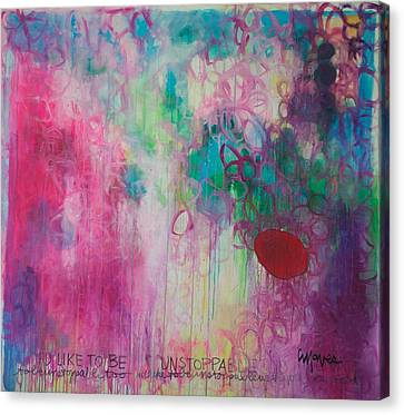 Canvas Print featuring the painting Id Like To Be Unstoppable by Laurie Maves ART