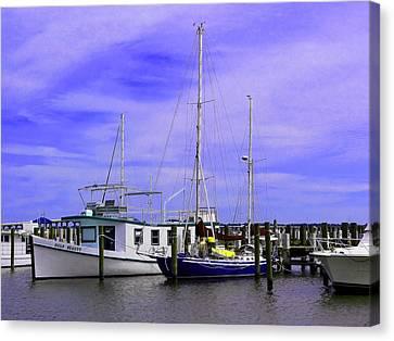 I Am Sailing Canvas Print - I Would Rather Be Sailing by Kathy K McClellan