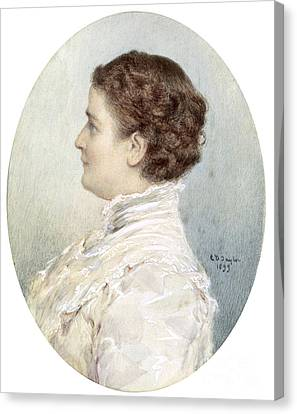 First Ladies Canvas Print - Ida Mckinley, First Lady by Science Source