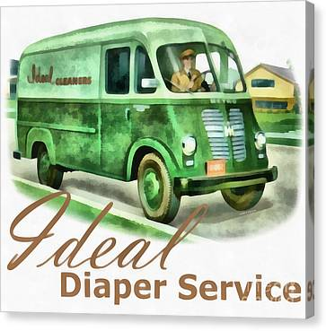 Ideal Diaper Service Painting Canvas Print by Edward Fielding