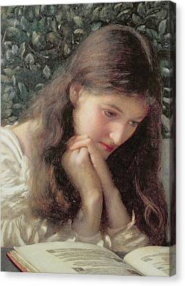 Girl Studying Canvas Print - Idle Tears by Edward Robert Hughes