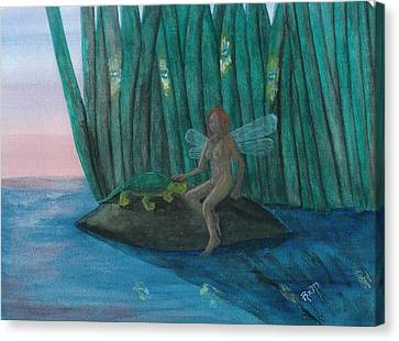 Idly Watching Fireflies...no. Two Canvas Print by Robert Meszaros