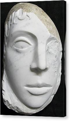 Idol Of Cydonia Canvas Print by Marino Ceccarelli Sculptor