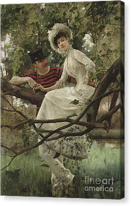 Idyll, 1925  Canvas Print by Carl Larsson
