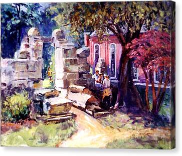 Canvas Print featuring the painting Idyllic Landscape by Stan Esson
