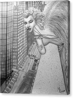 If Marilyn Were An Angel Canvas Print