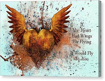 If My Heart Had Wings For Flying Canvas Print