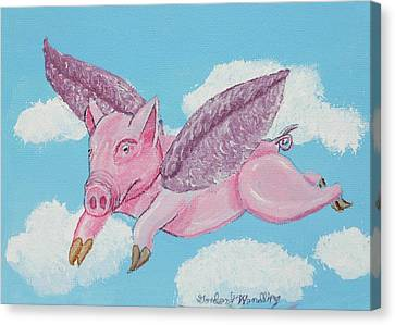 If Pigs Could Fly Canvas Print by Gordon Wendling
