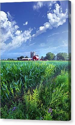 Farming Barns Canvas Print - If Seasons All Were Summers by Phil Koch