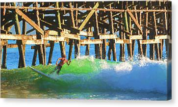 Clemente Canvas Print - If The Dude Surfed 2 Surfing Watercolor by Scott Campbell
