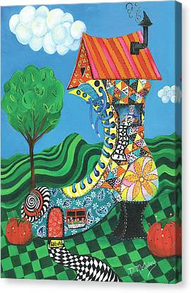 If The Shoe Fits, Live In It Canvas Print by Debbie McCulley