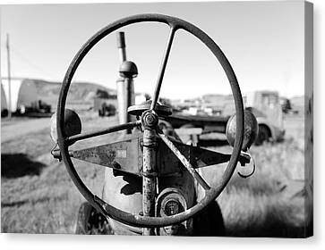 If The Wheel Could Talk Canvas Print by Todd Klassy