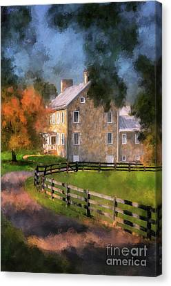 Canvas Print featuring the digital art If These Walls Could Talk  by Lois Bryan