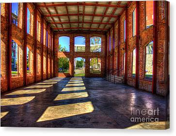 If Walls Could Talk Reedy River Meeting Venue Greensville South Carolina Art Canvas Print by Reid Callaway