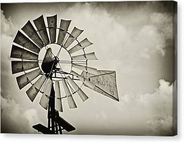 If Windmills Could Talk Canvas Print by Tony Grider