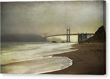 Textured Landscape Canvas Print - If You Could Just Stay by Laurie Search