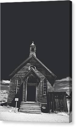 Historic Site Canvas Print - If You Should Pass Through These Doors by Laurie Search