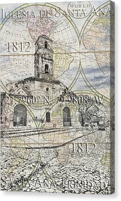 Iglesia De Santa Ana Passport Canvas Print