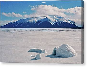 Igloo On Atlin Lake - Bc Canvas Print by Juergen Weiss