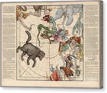 Plate 1 Canvas Print - Ignace Gaston Pardies-plate 1 by Celestial Images