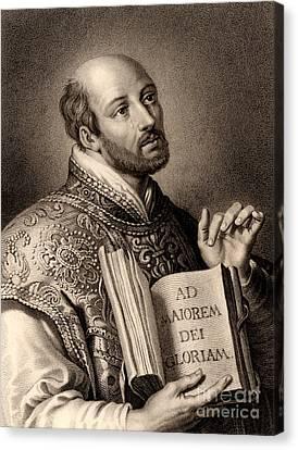 Ignatius Loyola Canvas Print by English School