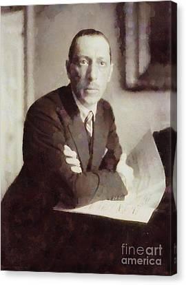Igor Stravinsky, Composer By Sarah Kirk Canvas Print by Sarah Kirk