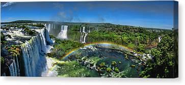 Iguazu Panorama Canvas Print by David Gleeson