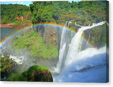 Iguazu Rainbow Canvas Print