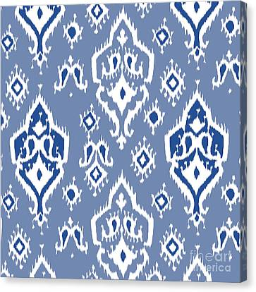 Pattern Canvas Print - Ikat Wall Art Print by Ramneek Narang