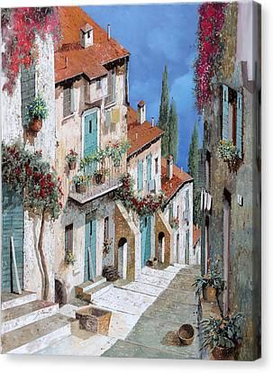 Il Balcone Fiorito Canvas Print