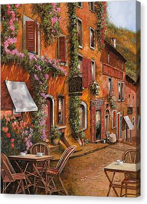 Il Bar Sulla Discesa Canvas Print by Guido Borelli