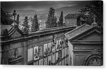Il Cimitero E Il Duomo Canvas Print