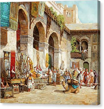 Canvas Print - Il Mercato Arabo by Guido Borelli