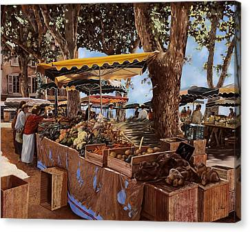 il mercato di St Paul Canvas Print by Guido Borelli