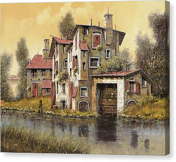Il Mulino Giallo Canvas Print by Guido Borelli