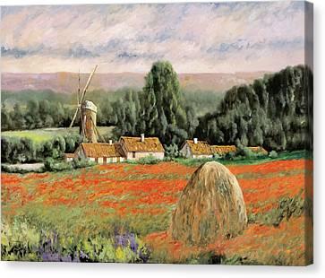 Il Mulino Nel Bosco Canvas Print