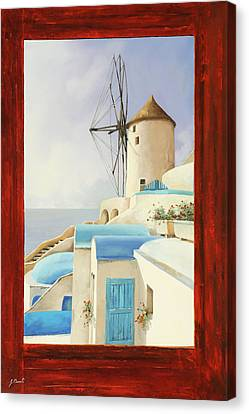 Canvas Print - Il Mulino Oltre La Finestra by Guido Borelli