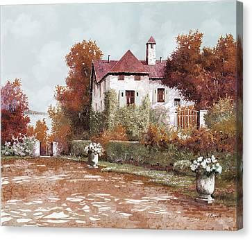 Il Palazzo In Autunno Canvas Print