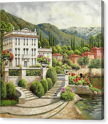 Clooney Canvas Print - Il Palazzo Sul Lago by Guido Borelli