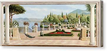 Pillars Canvas Print - Il Pavone by Guido Borelli