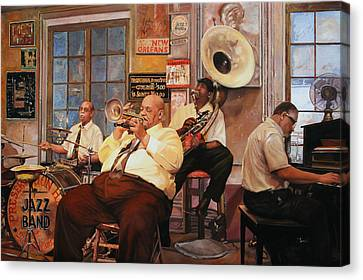 Il Quintetto Canvas Print by Guido Borelli