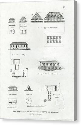 Iles Mariannes Architecture Ancienne Et Moderne Canvas Print by E Olivier