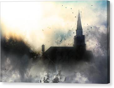 Canvas Print featuring the painting I'll Fly Away by Gray  Artus