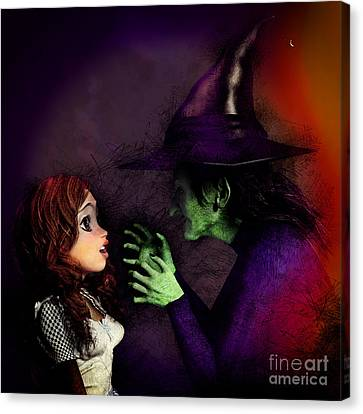 I'll Get You My Pretty Canvas Print by Methune Hively