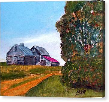 Illinois Old Barn And Tree Canvas Print