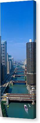 Illinois River, Chicago, Illinois Canvas Print by Panoramic Images