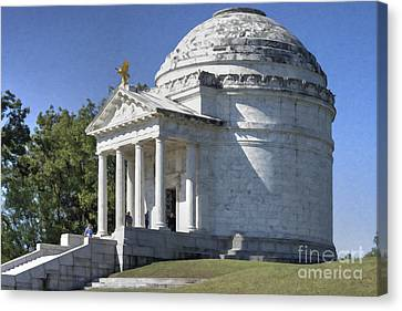 Illinois State Memorial Canvas Print by Liane Wright